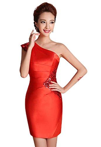 Rot Drasawee Damen Damen Kleid Drasawee Schlauch qaHXwarx