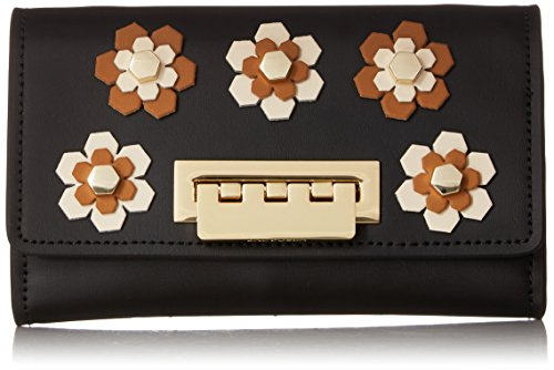Hex Black Wallet Floral Crossbody ZAC Earthette Zac Posen Applique R6vvnqSZ