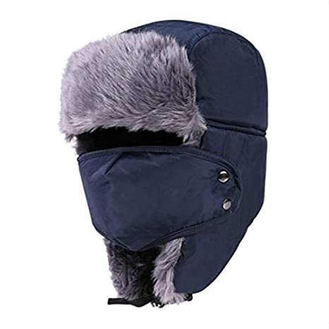 834ac2a34 Amazon.com: DeemoShop which in Shower Women Men Faux Fur Bomber hat ...