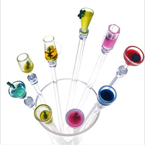 ODDIER Acrylic Cocktail Swizzle Stirrer Sticks Pack of 10