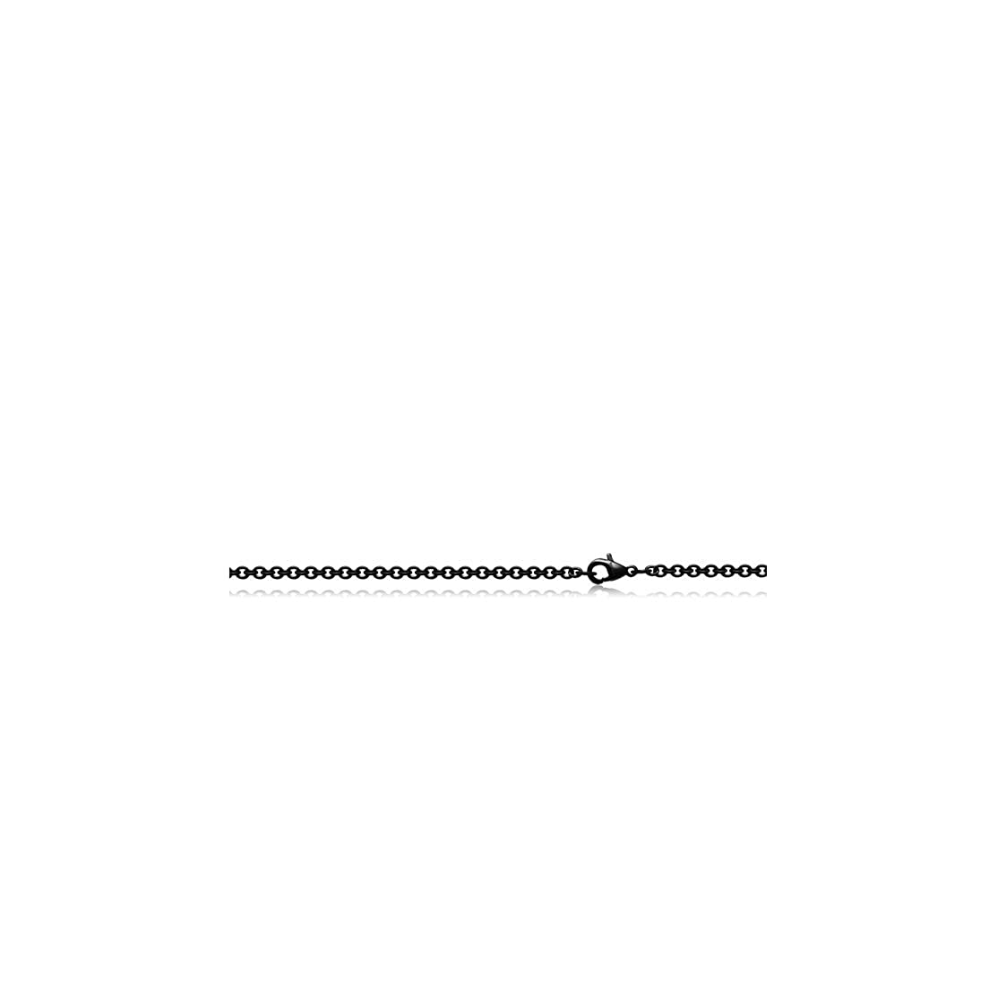 Flying Class Black Surgical Steel Cable Chain Necklace Gauge 0.8