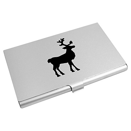 Business Card Holder Wallet 'Reindeer Card CH00001814 Silhouette' Azeeda Credit H7qnPEOww
