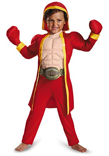 [Disguise 84027L Little Fighter Toddler Muscle Costume, Large (4-6)] (Boxing Halloween Costumes)