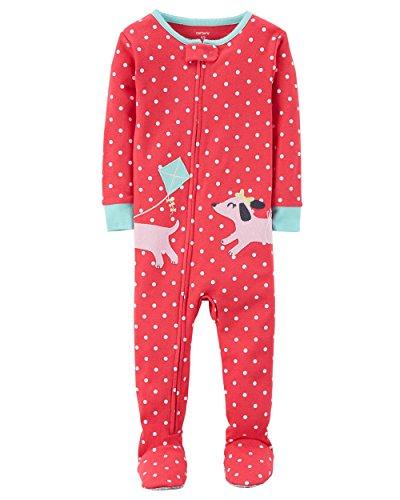 Carter's Baby Girls' One Piece Dog Snug Fit Cotton Pajamas 2T ()