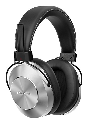Pioneer Bluetooth and High-Resolution Over Ear Wireless Headphone, Silver ()