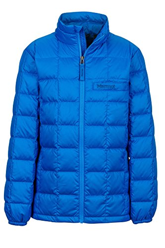 (Marmot Ajax Boys' Down Puffer Jacket, Fill Power 600, Cobalt Blue)