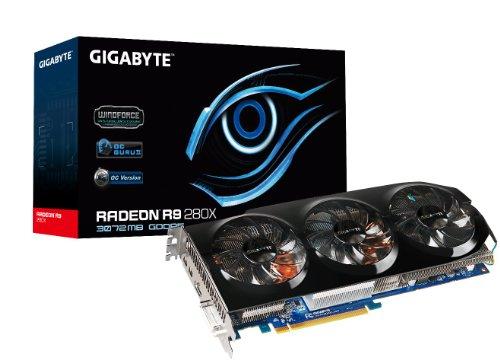 Gigabyte R9 280X GDDR5-3GB DVI-I/HDMI/2xMini DP OC Graphics Card (GV-R928XOC-3GD) ()
