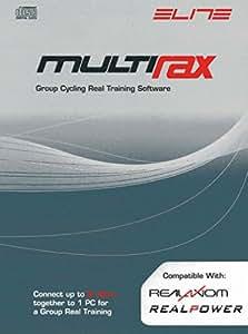Elite Software Multi Rax Group Cycling - Accesorio para rodillos para bicicletas, color gris