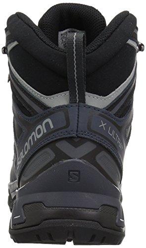 Scarpa Da Trail Running Salomon Mens X Ultra 3 Wide Mid Gtx Nera