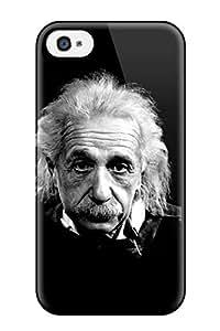 ClaudiaDay Iphone 4/4s Hybrid Tpu Case Cover Silicon Bumper Wallpaper De Albert Einstein