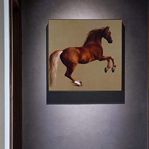 Famoso Pintor silbido de Pintor británico, póster y Pintura Mural de Caballo sobre Lienzo Pintura sobre decoración de la Sala Pintura sin Marco 60x60cm