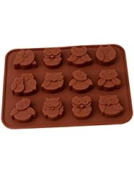 Chawoorim 12 Owls Silicone Cake Bread Chocolate Jelly Candy Baking Mould Craft Mold