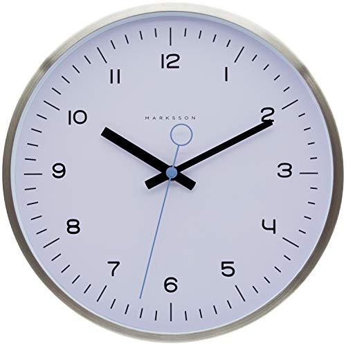 Marksson Crosby Clock (Ghost White/Sky Blue) 12 In Blue Wall Clock