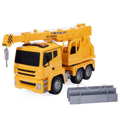 Goplus 1/18 5CH Remote Control RC Crane Heavy Construction Lifting Truck Toy New by Unbranded