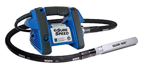 Wyco WSG1 SureSpeed Electric Concrete Vibrator Motor, 115V, 3-Wire, Grounded Constant Speed Works with all Wyco Flexible Shafts