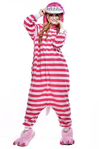 Cheshire Cat Onesies Costumes Adult Unisex Animal Cosplay Pajamas]()