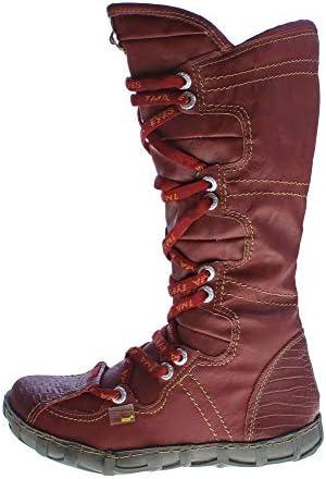 TMA Leder Winter Stiefel Damen Schuhe gefüttert echt Leder 2018 Reptil Print Gr. 36 42