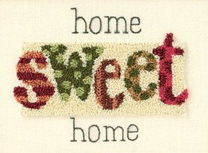 Dimensions Punch Needle Kit (7 X 5 Inches) - Home Sweet Home