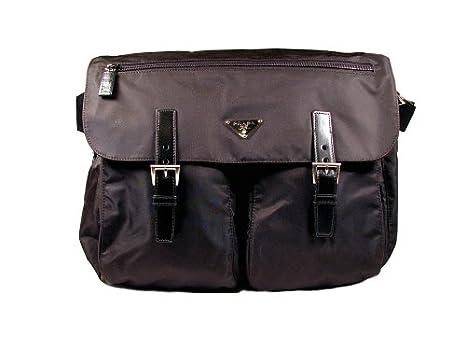 0444e476868b Amazon.com  Prada Vela Nylon Large Messenger Bag