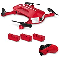 GoolRC T37 Mini Drone Foldable with Wifi Camera Live Video 2.4G 4 Channel 6 Axis Gravity Sensor RC Selfie Quadcopter RTF With Two Extra Battery