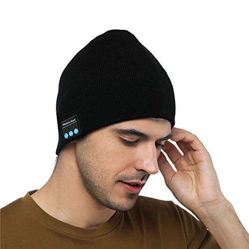 Shnmin Beanie Hat with Bluetooth for Men Women Wireless Knit Music Cap Built-in Microphone