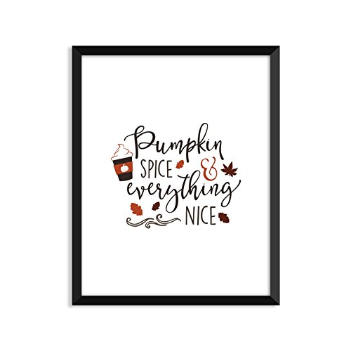 Pumpkin Spice And Everything - Unframed art print poster or greeting card Spice Girls Christmas Card