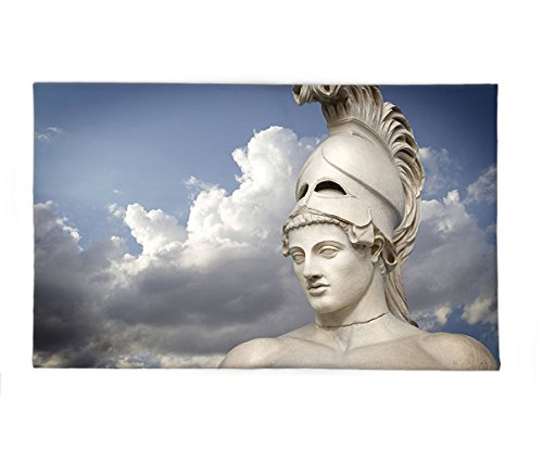 [Interestlee Fleece Throw Blanket Sculptures Decor Collection Greek Sculpture of the General Pericles Clouds at the Back Mysticism Greek Art Blue White Beige] (Pericles Costume)