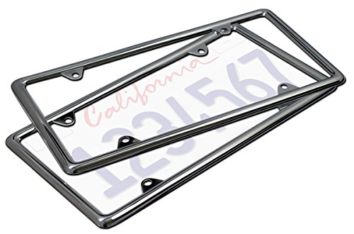 Motorup America Auto License Plate Frame Cover - Fits Select Vehicles Car Truck Van SUV, Chrome