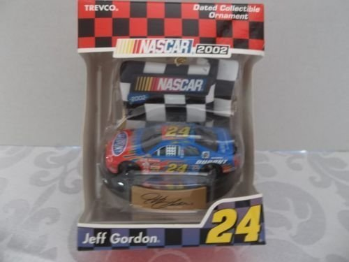 (2002 Edition Jeff Gordon #24 Dupont Flames 1/64 Scale Car Ornament Trevco)