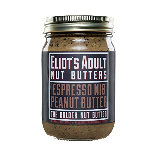 Eliot's Adult Nut Butters Espresso Nib Peanut Butter, 12 Ounce, Non-GMO, Gluten Free, Vegan, Keto and Paleo Friendly, 72 grams of Protein]()