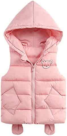 134b0bc3241 FORESTIME Winter Baby Boys Girls Vest Sleeveless Packable Down Hooded Warm  Classic Bubble Lightweight Puffer Down