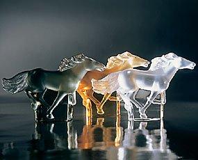 Lalique Figure Kazak Horse Grey - 4 2/5 in