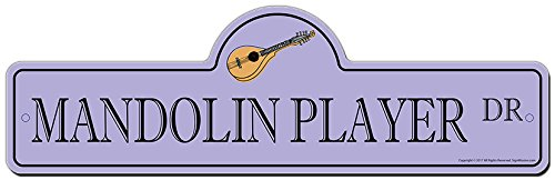Mandolin Brothers (SignMission Mandolin Player Street Sign   Indoor/Outdoor   Funny Home Décor for Garages, Living Rooms, Bedroom, Offices Personalized Gift)