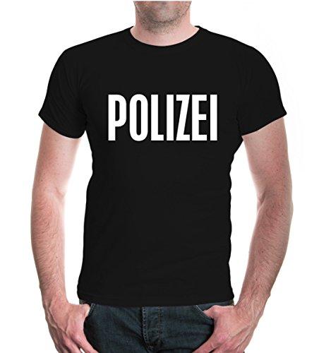 T-Shirt POLIZEI-XXL-Black-White