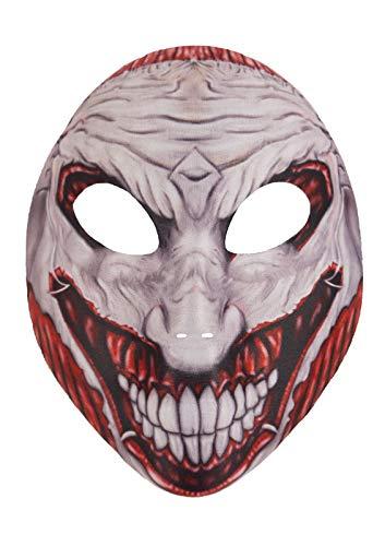 MA ONLINE Unisex Scary Joker Face Mask Adult Fancy Dress Party Halloween Costume Accessory