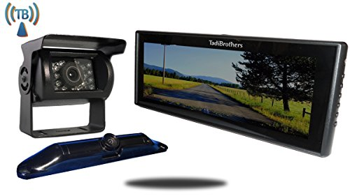 Tadibrothers 5th Wheel Wireless Backup Camera System with a 9 Inch Mirror and 2 Backup - Tadibrothers Mirror Camera Backup