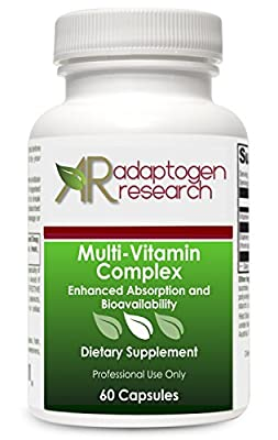 Multi-Vitamin Complex 60 vcaps · Enhanced Absorption & Bioavailability · by Adaptogen Research Pharmaceutical Grade Supplements