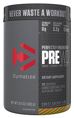 Dymatize Pre Workout Supplement Powder, Maximize Energy & Strength, Sweet Cherry Lime, 400 Gram