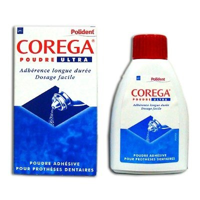Polident Corega Poudre Ultra Adhesive Powder for Denture 40g by Polident Corega
