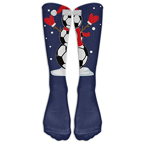 Funny Christmas Shirts Soccer Snowman Custom Knee High Socks Football Baseball Long Stockings For Men Women ()