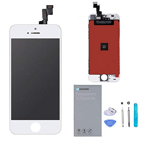 (URSEND for iPhone SE LCD Touch Screen Display Digitizer Screen Replacement Assembly White with Repair Tools)