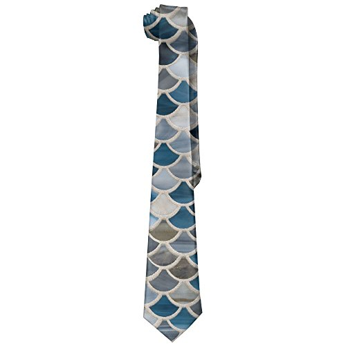 Egg Egg Men's Jazz Glass Scales Blue Blend Novelty Necktie Tie Neck - Cool Bald Glasses Guys For