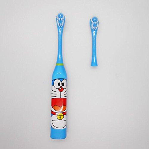 Blue Stones Newday Kids Toothbrushes Cute Cartoon Pattern Electric Toothbrush Oral Care Teeth Whitening Tooth Brush With 2 Heads