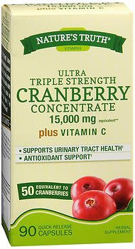 Nature's Truth Ultra Triple Strength Cranberry 15,000 mg Plus Vitamin C Quick Release Capsule - 90 ct, Pack of 6