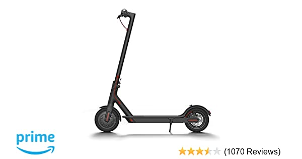 Xiaomi Mi Electric Scooter, 18.6 Miles Long-range Battery, Up to 15.5 MPH, Easy Fold-n-Carry Design, Ultra-Lightweight Adult Electric Scooter (US ...