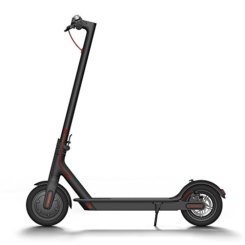Xiaomi Mi Electric Scooter, 18.6 Miles Long-range Battery, Up to 15.5 MPH, Easy Fold-n-Carry Design, Ultra-Lightweight Adult Electric Scooter (US Version with Warranty) (Aluminum Bicycle Terrain All)
