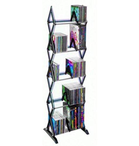 (ATS CD Floor Stand DVD Bookcase Media Storage Cabinet Rack Case Shelf Tower Game Disc 5 Tier Organizer & Ebook by)