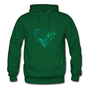 Single Heart Green Diatinguish Custom-made Cool Hoody X-large Women