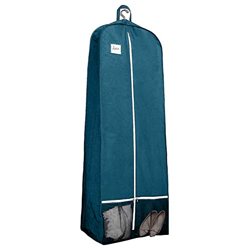 Mesh Tri Fold Garment Bag - 72 Inch Long Women's Dress and Gown Garment Bag, 15