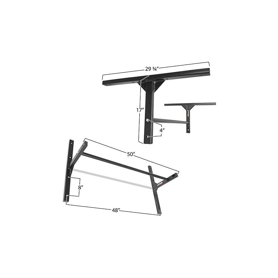 "Titan Fitness Pull Up Bar HD 8' Ceiling Stud Wall Mounted 46"" Adjustable Height"
